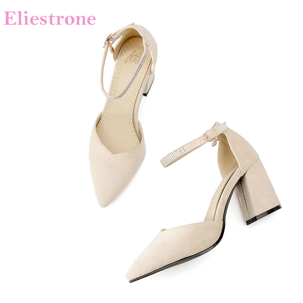 New Elegant Apricot Pink Women Nude Sandals High Heels Crystal Black Lady Dress Shoes BK02 Plus Big Small Size 10 11 32 46