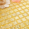 Чистое золото стеклянная мозаика 20х204 мм для кухни backsplash A5W02-20-4