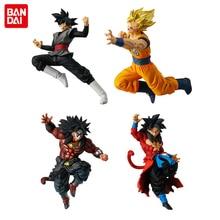 BANDAI figura de juguete de Battle VS Gashapon, pieza 7, juego completo, 4 Uds., Super Saiyan, Son Goku, Gogeta, Broly