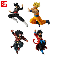 Original BANDAI Battle VS Gashapon PVC Toy Figure Part 7   Full Set 4 PCS Super Saiyan Son Gokou Gogeta Broly