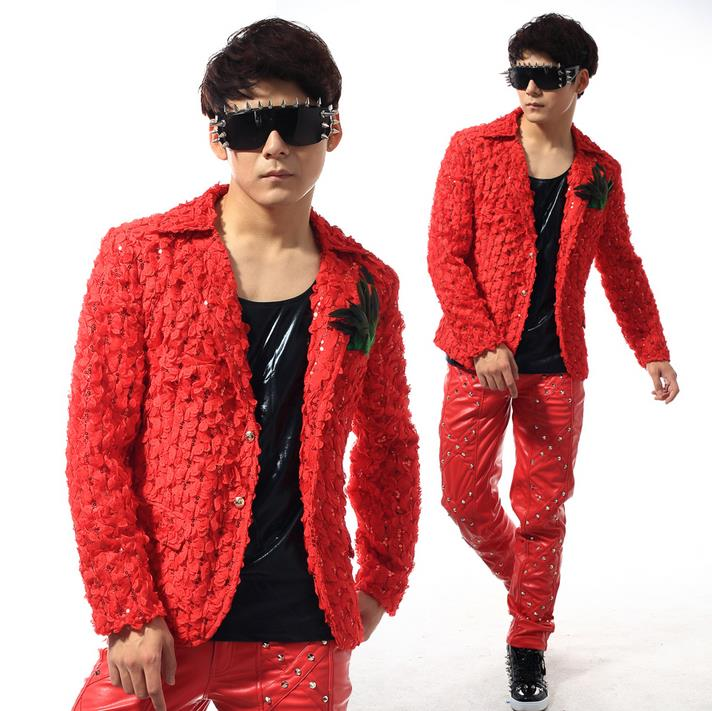 Online Buy Wholesale red blazer for men from China red blazer for ...