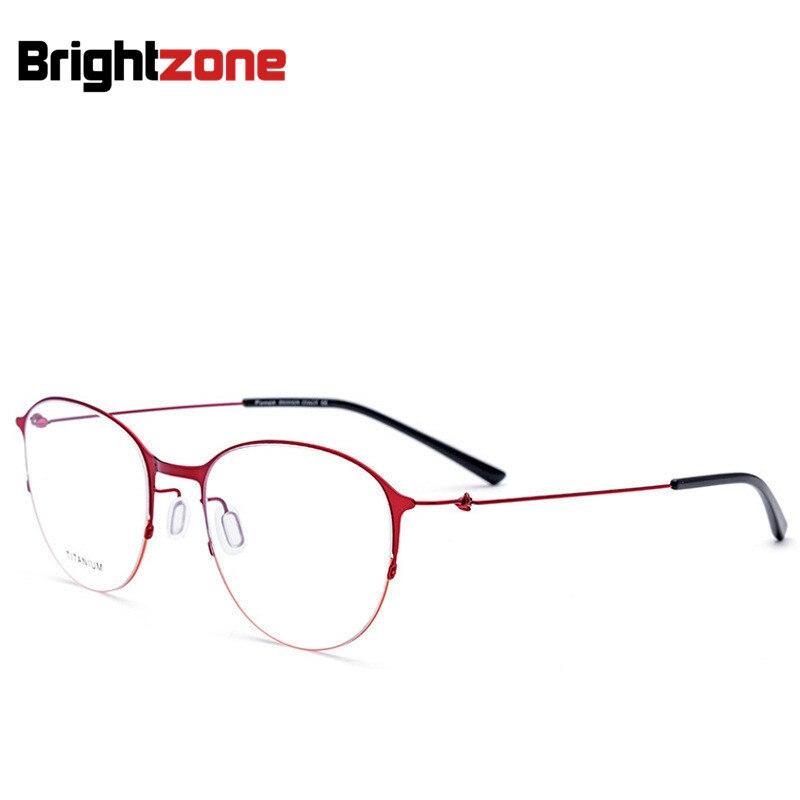 Non-Vis Hommes Femmes Nouveau Moitié Jante Myopie Super Light Spectacles Cadre Loisirs Style Haut de gamme De Mode Oeil lunettes Oculos De Grau