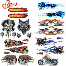 4 pcs FASP DIY eagle Fashion  Motorcycle Car Sticker Graffiti Snowboard Luggage Bag Laptop Helmet Skateboard Guitar KK Decal