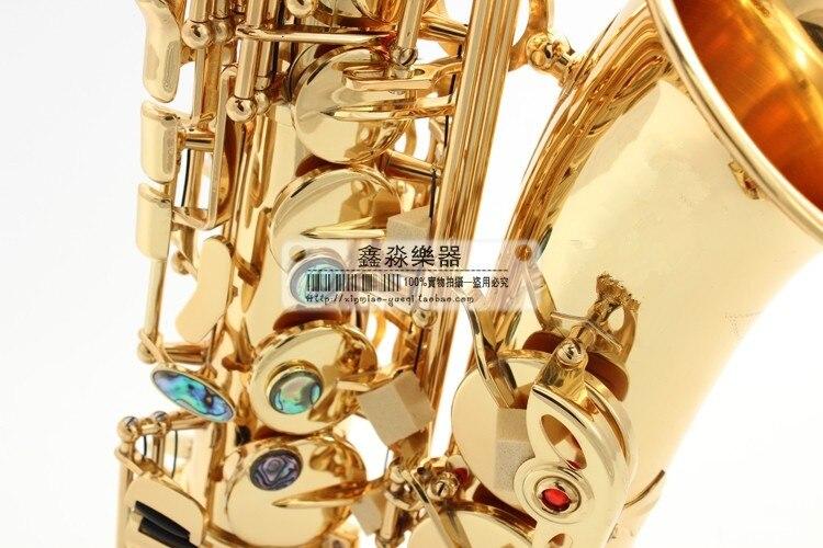 Alto Саксофоны инструмент sax высокое музыкальный инструмент Саксофоны sax топ золотой латуни музыкальный инструмент.