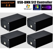 Fast shipping 4 units DMX controller, for stage lighting 512 dmx console DJ controller equipment High Quality one year warranty