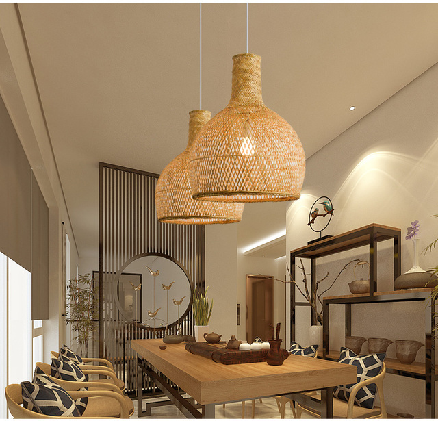 Spectacular Woven Basket Pendant Lightwoven Light