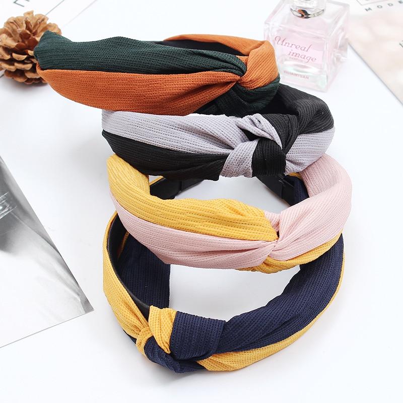 Korean Fashion Summber Knot Hairband Women Girls Hair Head Hoop Bands Accessories For Women Headband Scrunchy Headwear Headdress