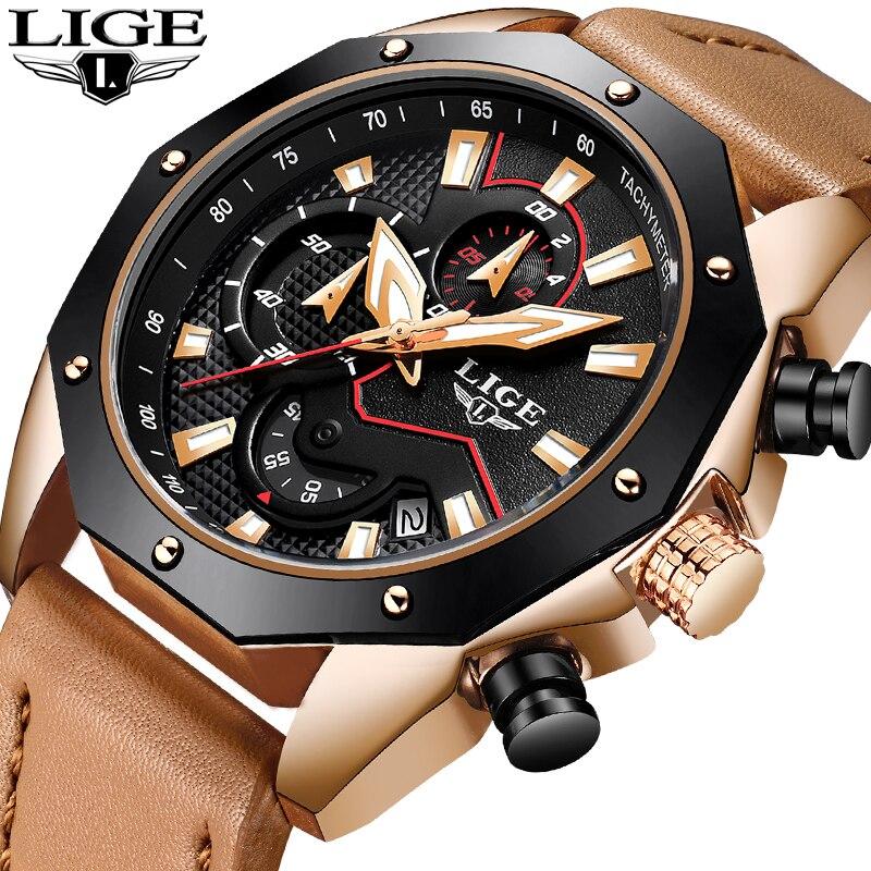 Comprar LIGE relojes hombres deporte impermeable fecha cuarzo analógico  hombres relojes cronógrafo negocios reloj de pulsera para hombres Relogio  Masculino ... c9d3802bd490