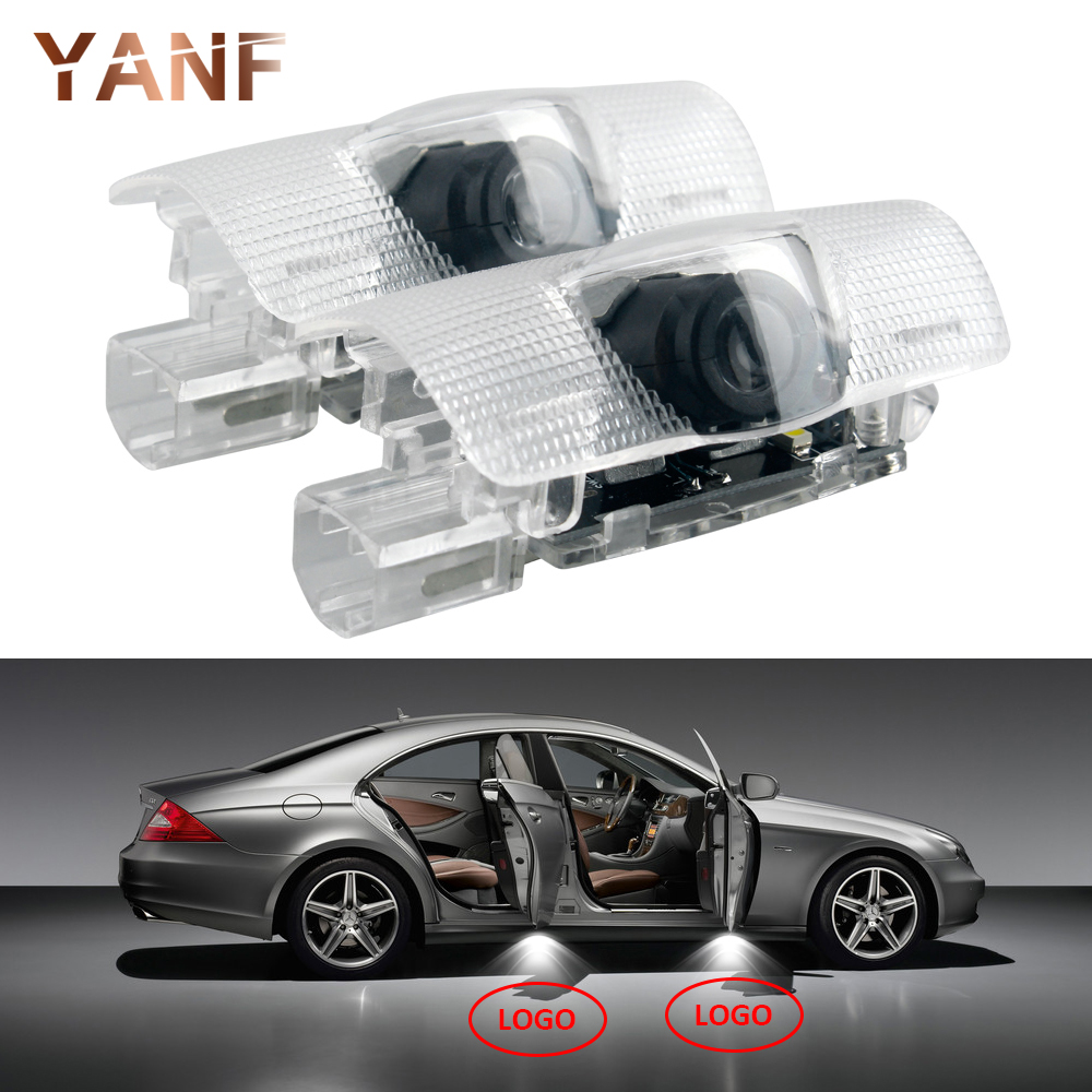 YANF 2 Pcs Car Style Warning Door LED Logo Laser Projector Courtesy light for Skoda Superb 2009 2010 2011 2012 2013 2014 2015