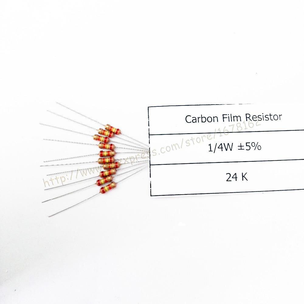 Free Shipping Cost 100pcs Lot 24k Ohm 1 4w Resistor Axial
