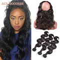360 Lace Frontal With Bundle 7A Grade Brazilian Body Wave 3 Bundles With 360 Frontal Soft 360 Lace Frontal Closure With Bundles