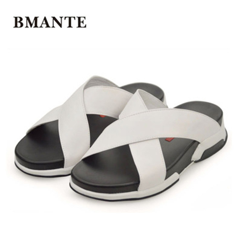Spring New Men Fashion Beach Casual Sandal Luxury Slippers Summer Men Shoes Concise Leisure Flat Men Slippers Solid Sandals new arrival summer men sandals leisure solid waterproof male outdoors slippers pu leather fashion slip on sandals w1 35