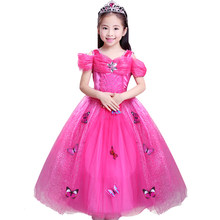 Girls Christmas Wedding Flower Girl Dress Princess Party Pageant Formal Dresses Sleeveless Long Dress for Teenager Girl 3-10 Y(China)