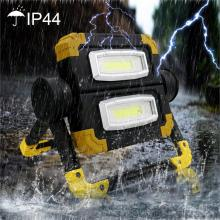 IP65 Outdoor LED Work Light Waterproof USB Rechargeable Searchlight Flood Folding Working Light Lamp powerful 4 lighting modes ip65 waterproof emergency led work lamp 100w portable rechargeable led flood light