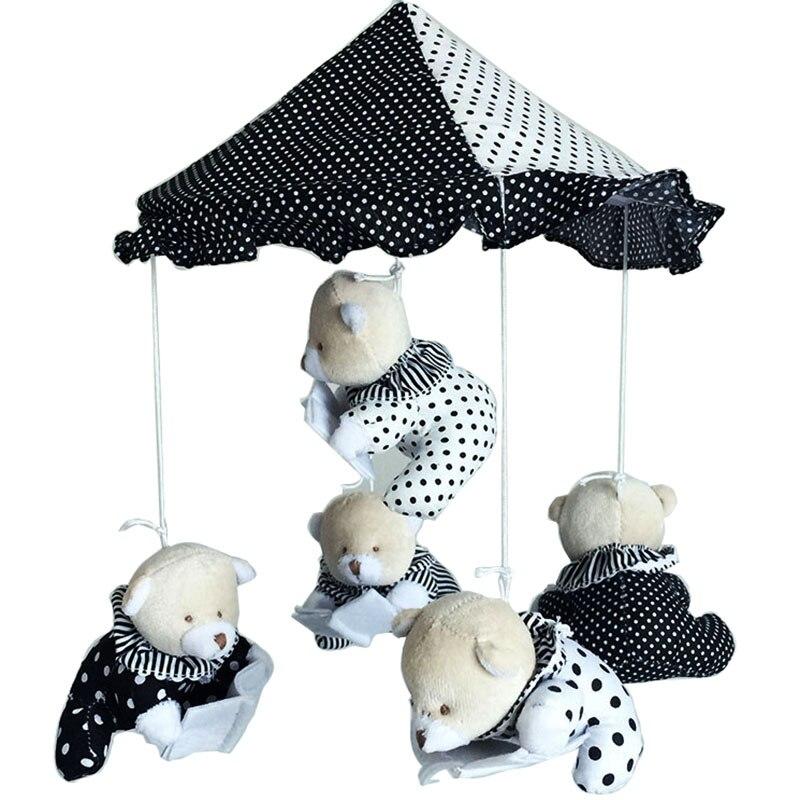 Nouveau-né Infrants jouets lecture ours bébé lit cloche rotatif hochet musique suspendus hochet support ensemble berceau Mobile bébé babiole 0-12 M