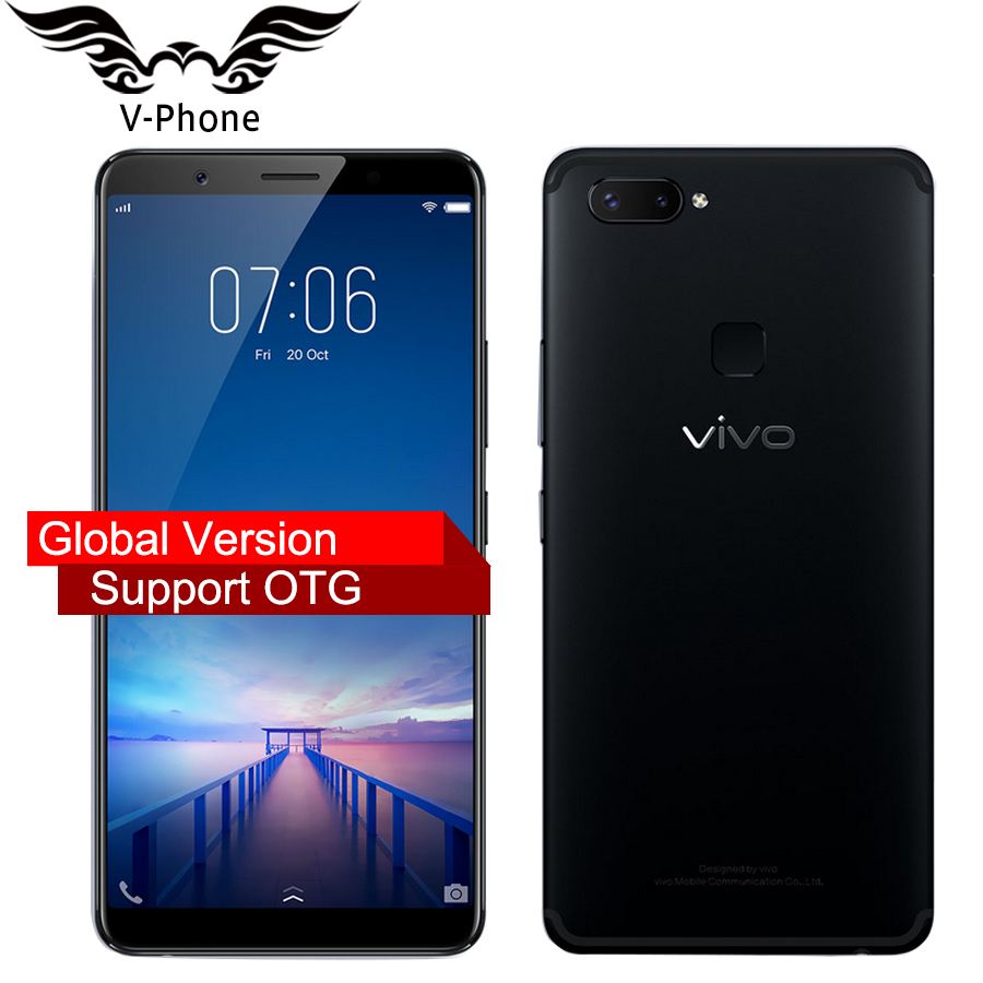 "Global firmware VIVO X20 Plus Mobile phone Snapdragon 660 4GB RAM 64GB ROM Full Scree 6.43"" Dual Rear Camera 4G LTE CellPhone"