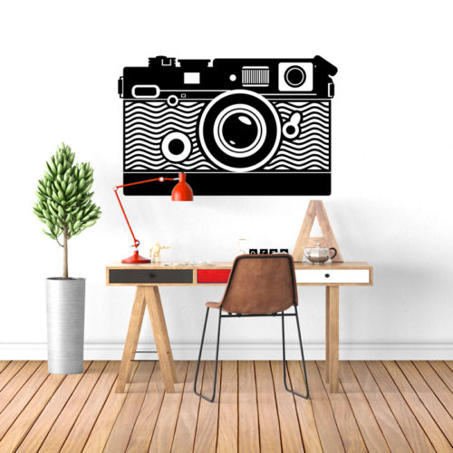 Camera Wall Art Decal Vinyl Transfer Photography Video
