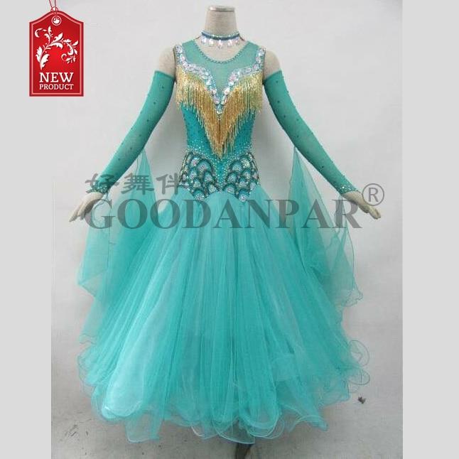 Ballroom Dance Dress  Ballroom Dance Competition Dresses Gray Gradient Modern Waltz Tango Dance Dress