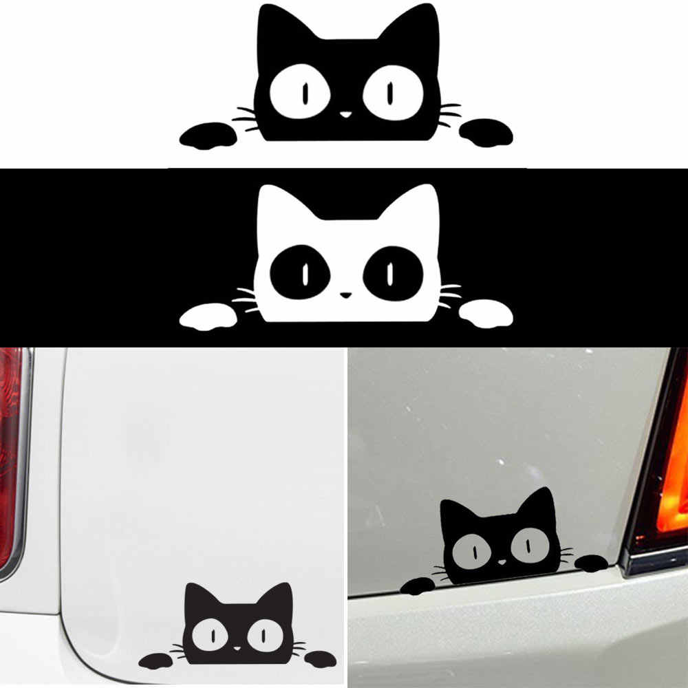 1PC Surprise Cat Peeking Funny Vinyl Decal Sticker Car/Truck Laptop Car Sticker Vehicle Decoration Car Door Window Styling Tools