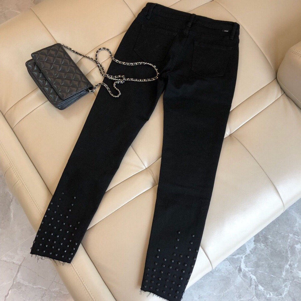 Trouse Ddxgz3 Mince Femmes Printemps Mode 2019 Rivets Pantalon 0qxvgY0nz