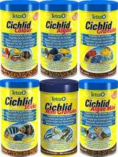Tetra cichild comida de peixe tropical grânulo varas aquário áfrica oriental cichild comida de peixe alimentador feito na alemanha