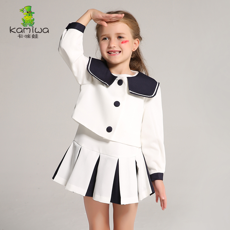 Dresses Korean Designers Original Design Girls Dresses Children's Dresses Dresses + Jackets 3-12 Year-old Premium Clothing white