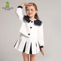Elbiseler Kore Tasarımcılar Orijinal Tasarım Kızlar Elbiseler çocuk Elbiseleri Elbiseler + Ceketler 3-12 yaşındaki Prim giyim