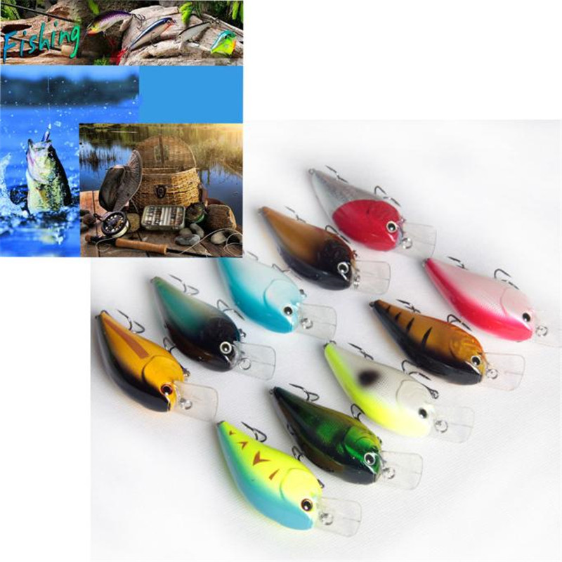 Lot 5Pcs Fishing Lures Kinds Of Minnow Fish Bass Tackle Hooks Baits Crankbait  hot  September5