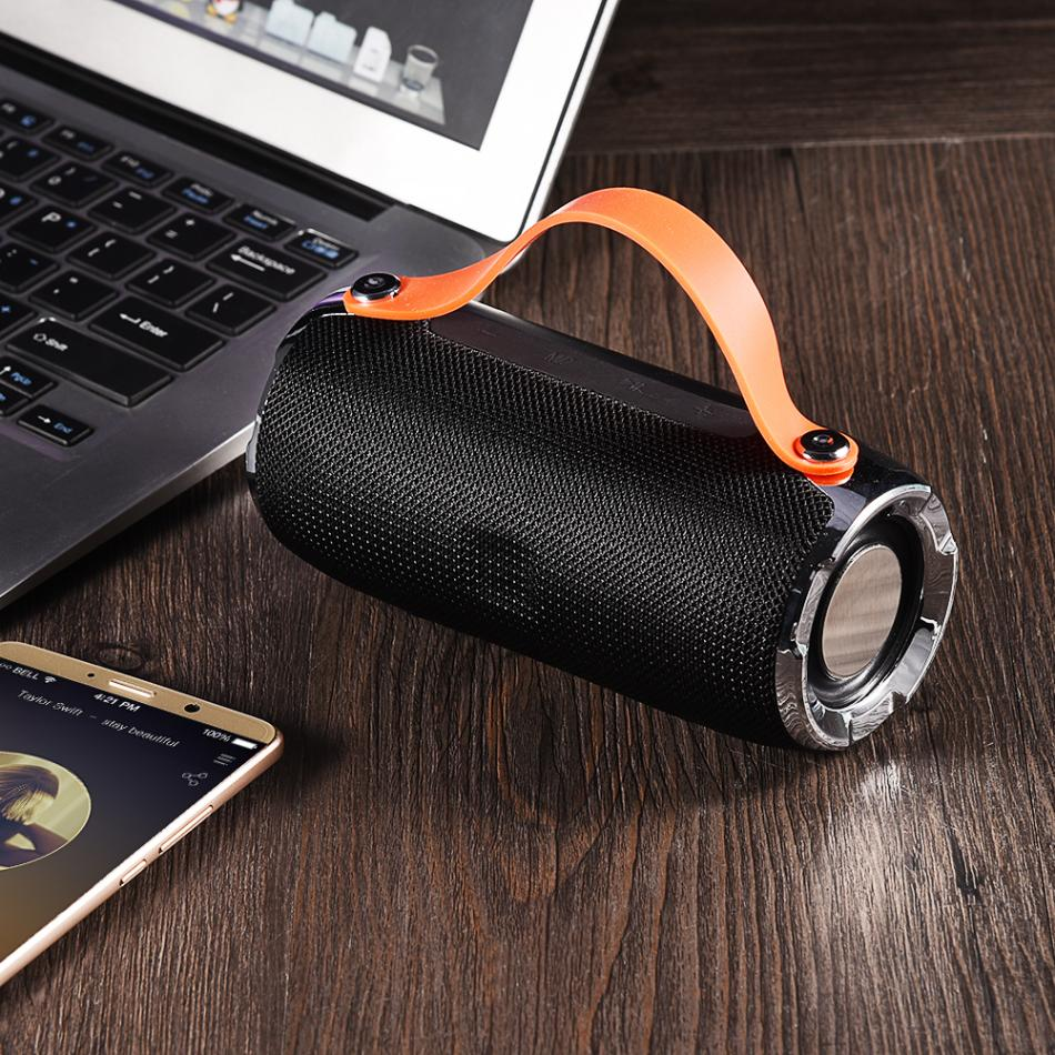 Portable Hand-held Wireless Stereo Bluetooth Hand-free Speaker Outdoor Mini Bicycle Speaker Column Support TF/USB/AUX/FM