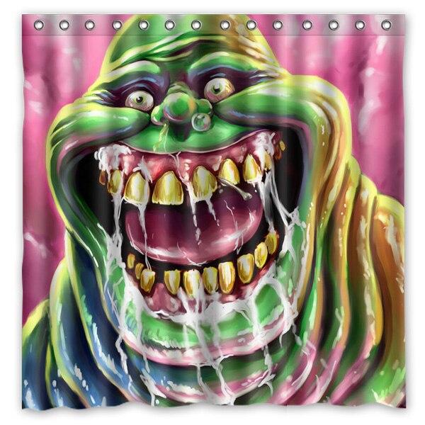 Productos de baño de Tela de Poliéster Ghostbusters Slimer Impreso Cortinas De B