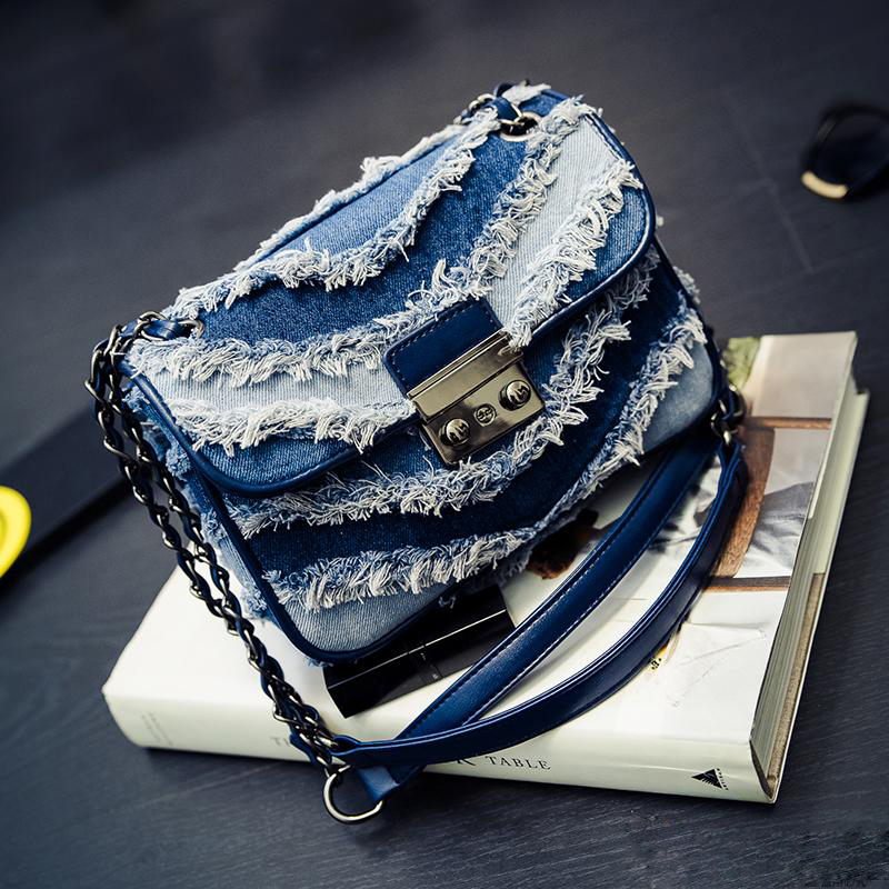 Summer New font b Women s b font Handbag All match Cowboy Small Package Fashion Canvas