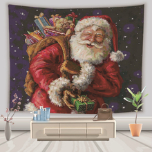 цена Santa Claus Tapestry Wall Hanging Gifts Elk Deer Hippie Psychedelic Tapestry Wall Fabric Christmas Boho Decor Home Blanket Tapiz