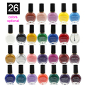 24 bottles/set Nail Polish Gel for Nail Art Stamping Print 10ml Eesmalte Varnish Na2011-24