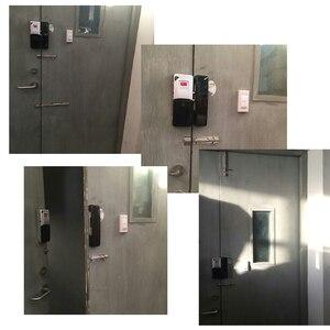 Image 4 - Raykube nova fechadura da porta elétrica sem fio fechadura mortise fechadura de controle remoto fechadura da porta aberta