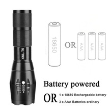 Pocketman 12000 Lumens High Power 5 Mode XM-L T6 L2 V6 LED Flashlight Zoomable rechargeable Focus Torch by 1*18650 or 3*AAA z92