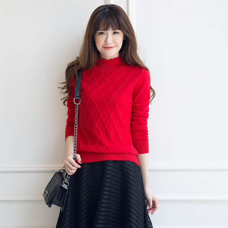 High End 2019 Women Cashmere Knitted Sweater Autumn Winter Turtleneck Pullovers Female Long Sleeve Solid Color