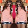 Fashion Women's Lace Casual Tank Tops Plus Size Women Cotton Summer Vest Top Blouse Ladies Lace Short Sleeve Blouse