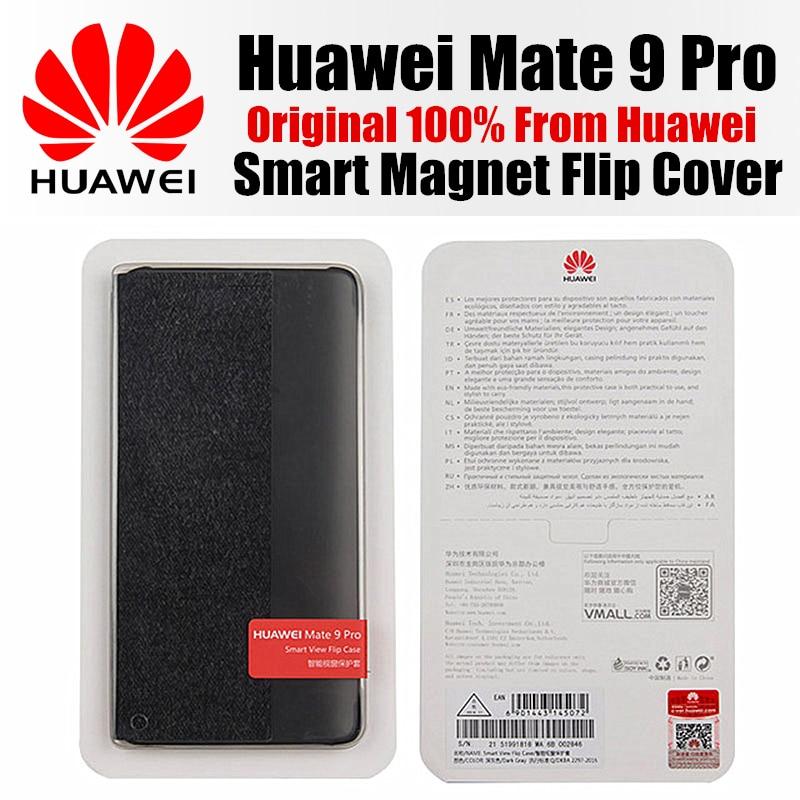 imágenes para Huawei mate 9 pro caso original 100% de la cubierta del tirón huawei Respuesta inteligente Ventana Vista Sintético para el mate huawei 9pro mate9 pro