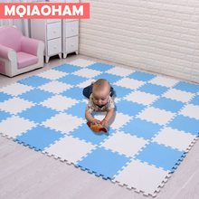 MQIAOHAM Foam Mat Children Crawling Play Mat Kids Game Puzzle Mats Kindergarten Flooring Tiles 18 pcs/set crawling rugs For Baby(China)