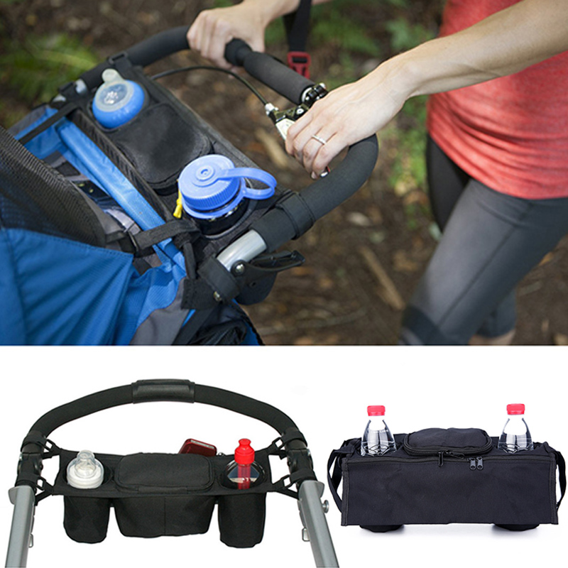 Baby Stroller Organizer Baby Pram Carriage Bottle Cup Holder Hanging Bag For Pram Buggy Baby Stroller Accessories Wheelchair Bag