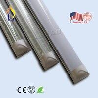 5 шт./лот 4ft 5ft 6ft 8ft 24 Вт-48 Вт t8 светодиодные трубки встроенный V-образный Освещение США складской запас лампа с Лучшая цена