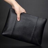 Hot Quality Genuine Leather Male Clutch Bag Casual Style Men's Wallet Black Men's Handbag/single shoulder bag#L084