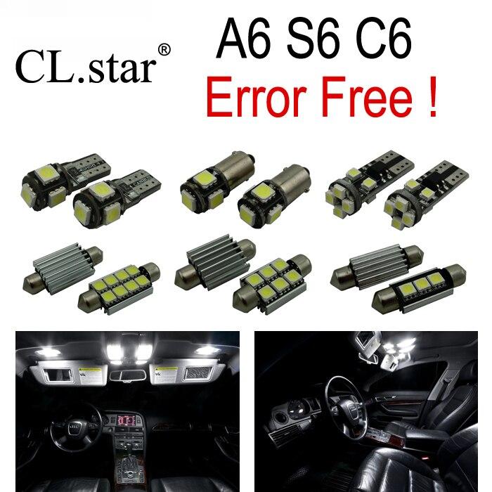 17pc X canbus Error Free for Audi A6 S6 RS6 C6 Quattro sedan LED Interior Light