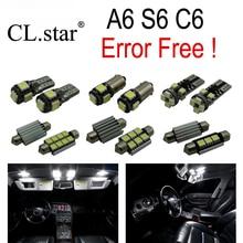 17 шт. Х canbus Ошибка Бесплатно для Audi A6 C6 S6 RS6 Quattro седан LED Внутренних Свет Комплект Упаковки (2005-2011)