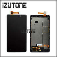 100 Warranty Black LCD Screen Display With Touch Screen Digitizer With Frame For Nokia Lumia 820