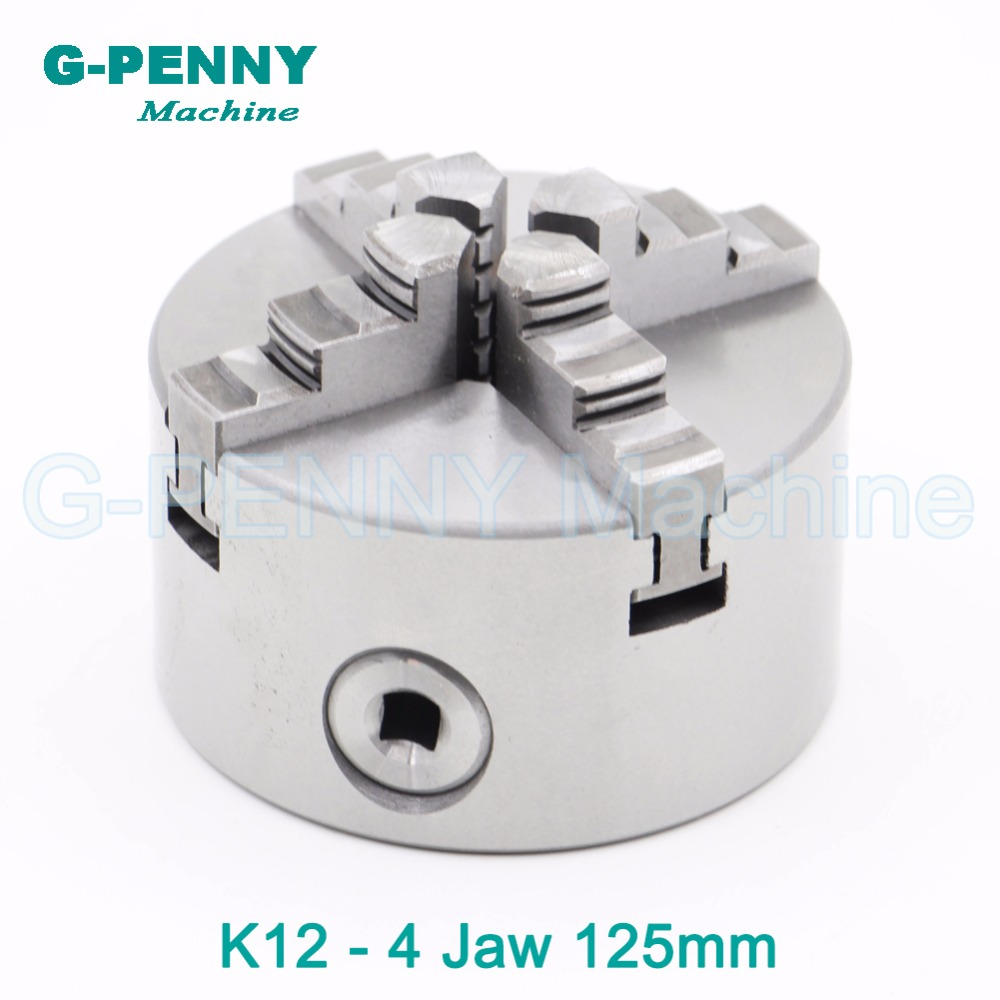 CNC 4th axis / A axis 125mm 4 jaw Chuck self-centering manual chuck four jaw for CNC Engraving Milling machine CNC Lathe Machine cnc 5 axis a aixs rotary axis three jaw chuck type for cnc router