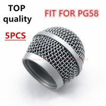 5PCS/lot TOP quality Professional  Replacement Microphone Grille Ball Head Mesh Fits For shure PG48 PG58