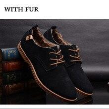PINSV Big Size 48 Men Shoes Casual Cow Split Leather