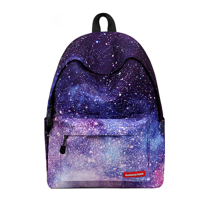 Women backpack for teenage girls school backpack bag Stars Universe Space Printing Canvas Female Backpacks for college students fengdong brand women backpack shoulder bag female school students bag travel canvas printing backpack for women teenage girls