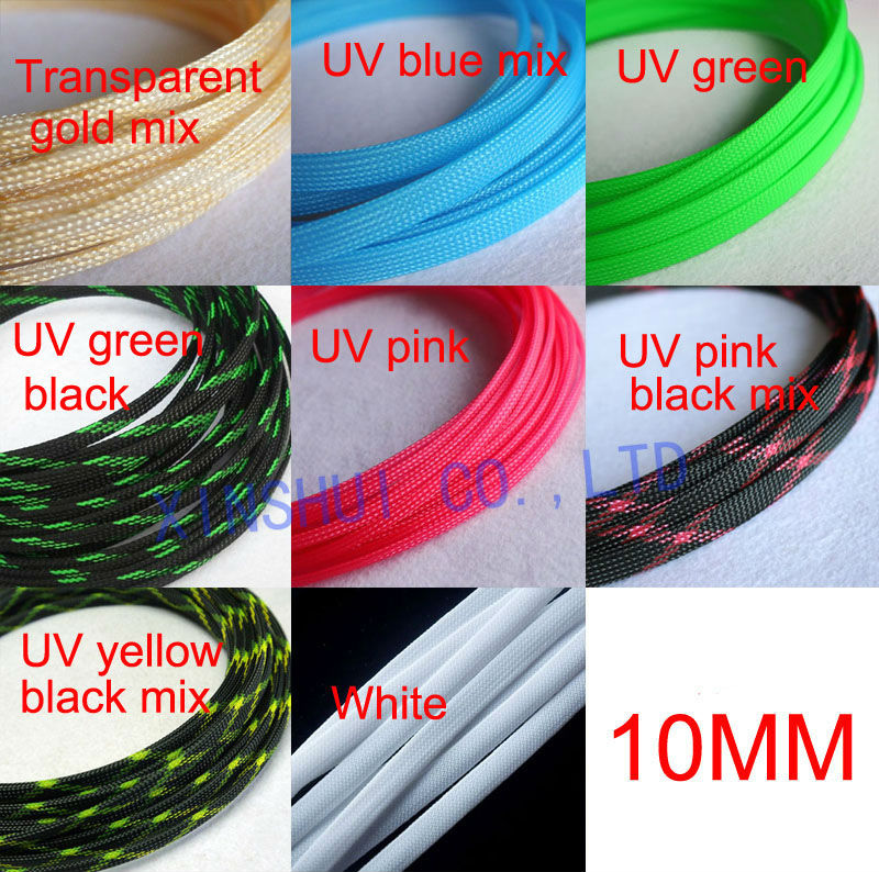 Seven-Color Mixed Weave 4mm-16mm Expandable Braided Cable Sleeving//Sheathing